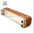 bl190 serie de acero inoxidable placas 316 del aire al agua de cobre soldadas intercambiador de calor para la bomba de calor del sistema