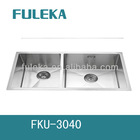 undermount double bowl stainless steel sink with American style