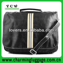 Black newest fashion men leather shoulder bag for shop