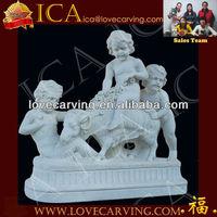 child white marble stone statue