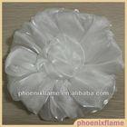 White fabric flower petals for wedding dress