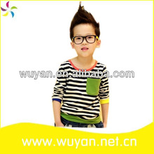 stripe newest kids new fashion boys tshirt