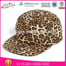 Corduroy with leopard snapback blank hat