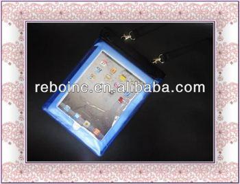 pvc waterproof bag for ipad mini/samsung galaxry/ tablet pc