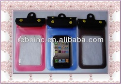 mobile phone durable lanyard pvc waterproof bag for iphone