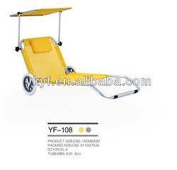 teslin foldable sun lounge,beach folding chair bed