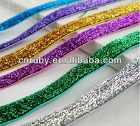 Stock stretch glitter elastic in various colors