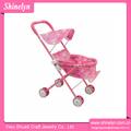 Sl-052 rosa lindo novo carrinho de boneca pram atacado fábrica de brinquedos de ferro bom berço