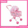 SL-057 iron baby doll stroller top selling pink with umbralla metal toy walker pram wholesale
