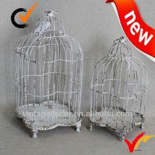 Vintage rusty handmade metal bird cage