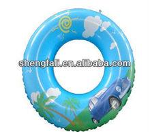 Plastic inflatable swim rings for children