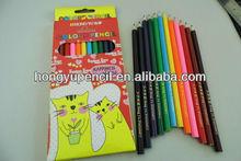 high quality 7inch hexagonal colour pencil 12pcs in a color box