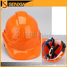 orange PE safety helmet with CE