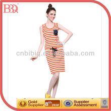 2014 Ladies Striped Fascinating Cotton Summer Dresses
