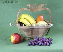 Apple Bamboo Fruit Basket basket Foldable basket expandable