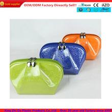 Candy color Pvc clutch cosmetic bag,patent makeup,beauty bag pouch