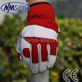Nmsafety de piel de cabra guantes de trabajo de cuero