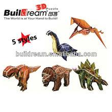 3d puzzle animaux mousse cadeaux de dinosaures