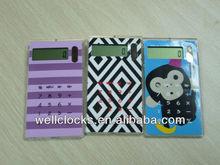 2014 Hot sale cheap mini creative design electronic solar power calculator with carcase function