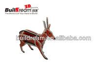 diy deer puzzle cube model