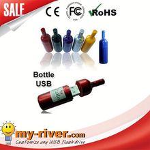 Custom logo myriver usb flash drive luxury wine bottle opener
