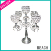 5 Arms Wedding Crystal Candelabra Centerpieces Wholesale