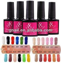 2014 Nail Art Soak Off Glitter Polish UV Color Gel UV Lamp Tips Decoration 10/15ml