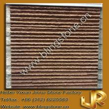 Ridged shape natural purple sandstone decorative veneer