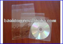 clear opp cd bag for keeping cd case plastic media packaging ppc13-3nfd