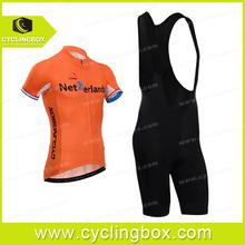 2014 latest new design Netherlands team oversized wholesale with bib shorts
