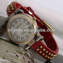 GL1003-1 New Hot Arrival Geneva Quartz Japan Movt Calf Leather Watch Straps
