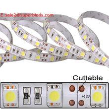 12v white pcb board 300leds/roll 5050 smd white/cold white/warm white auto car led strip light