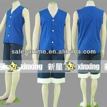 Wholesales Anime One Piece cosplay costume MONKEY D LUFFY Cosplay Costume blue Anime cosplay full costume