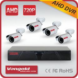 "2 Waterproof 2 Plastic 1/3"" CMOS 600TVL CCD 4CH DVR Kit"