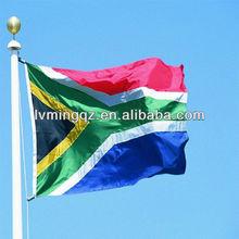 Satin flag in high quality, 90*150cm South Africa flag,beach flag banner