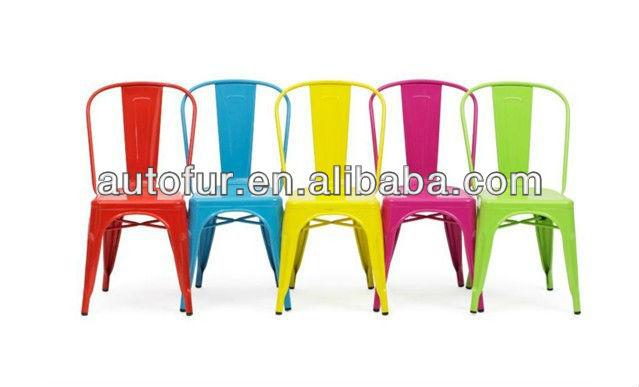 Vingage industrial antique durable colorful metal chair coffe shop chair