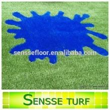 Natural look artificial turf grass