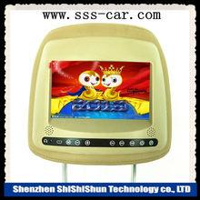 7'' tv Bebek geniş Renkli TFT LCD Dijital ekranda evrensel araba değiştirme koltuğu Mobil TV kafalık monitör tuşla