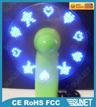 Cheap mini fan-flashing customers' message