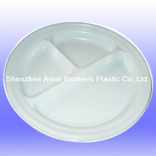 dia 220mm with many parts,ABS round packing tray,vacuum forming plastic tray/cover/case