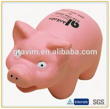 pink pig pu stress ball
