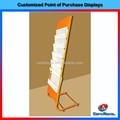 diseño personalizado del piso de pie periódico de metal estante de exhibición