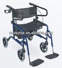 Deambulatore, walker, sedili peril bagno, walker con sedile, poggiapiedi e ruote solido/pieghevole a piedi