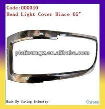 toyota hiace body kits #000340 hiace headlight cover chrome headlamp cover for hiace chrome