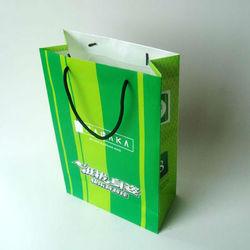 green shopping bag,high quality paper bag,paper hand bag