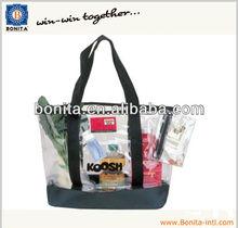 clear PVC tote bag/shopping bag/shopping tote bag