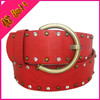 fashion crystal&rivets studded pu belt for women