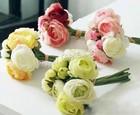 Gets.com mixed colors plastic spun silk artificial flower