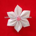 handmade branco flor fita de cetim para o vestuário e sapatos