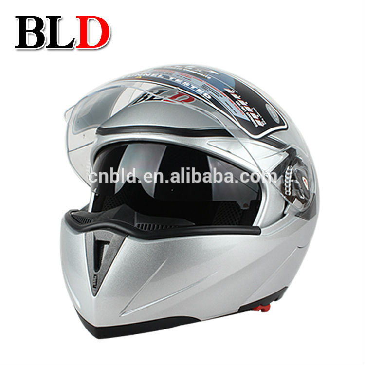 DOT approved NEW motorcycle helmet/motorcycle helmet flip up with double visors BLD-158